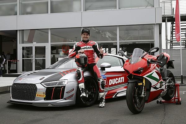 Carlos Checa corre nell'Audi R8 LMS Cup al Nurburgring