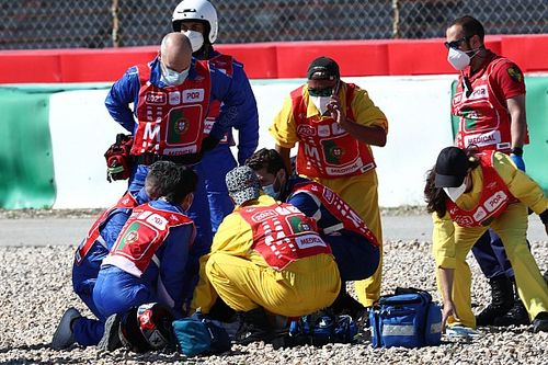 Jorge Martin hospitalised after violent MotoGP practice crash