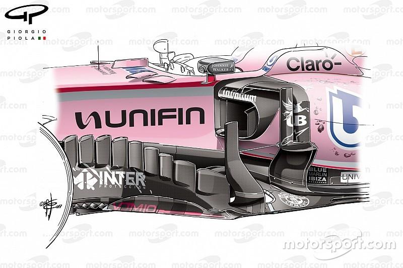 Teknik analiz: Force India'nın podyum mücadelesini vermesini sağlayan güncelleme