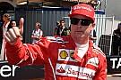 Fórmula 1 Raikkonen comemora pole, mas foca em corrida