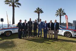 Allan Moffat, Jim Richards, Colin Bond, Fred Gibson, Will Davison, Tekno Autosports Holden, Jonathon Webb, Tekno Autosports Holden, Supercars CEO James Warburton