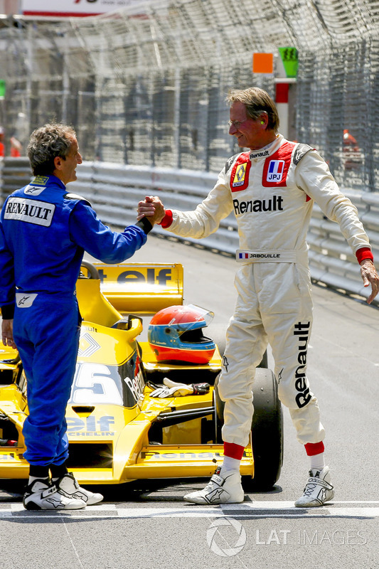 alain prost und jean pierre jabouille mit dem renault rs01 bei monte carlo formel 1 fotos. Black Bedroom Furniture Sets. Home Design Ideas