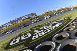 Daniel Suarez, Joe Gibbs Racing, Toyota; A.J. Allmendinger, JTG Daugherty Racin,g Chevrolet