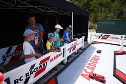 Young fans enjoy the RC Raceway Academy