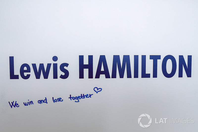 Lewis Hamilton, Mercedes AMG F1 'We win and lose together'