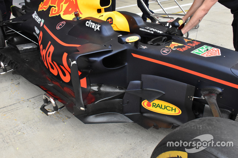 Lateral del Red Bull Racing RB13