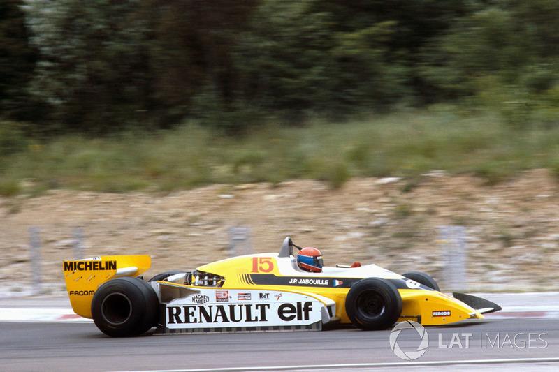 22º Jean-Pierre Jabouille, Renault RS10, Dijon 1979. Tiempo: 1:07.190