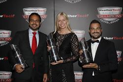 GTD kampioenen Andrea Reggiani, Alessandro Balzan, Christina Nielsen,