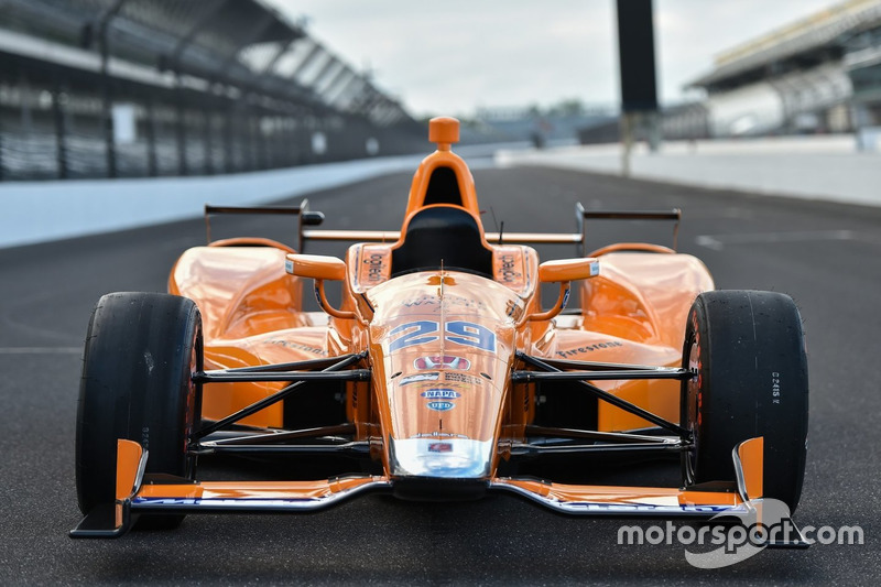 The car of Fernando Alonso, Andretti Autosport Honda