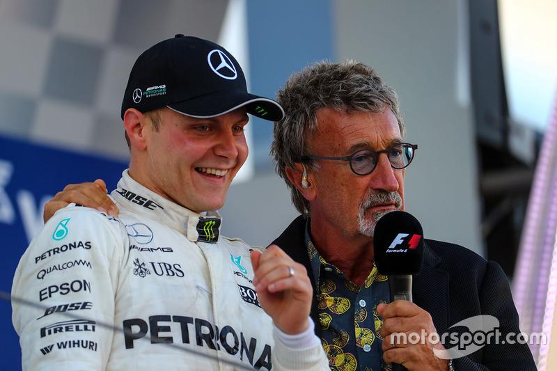 Valtteri Bottas, Mercedes AMG F1 celebrates on the podium, Eddie Jordan