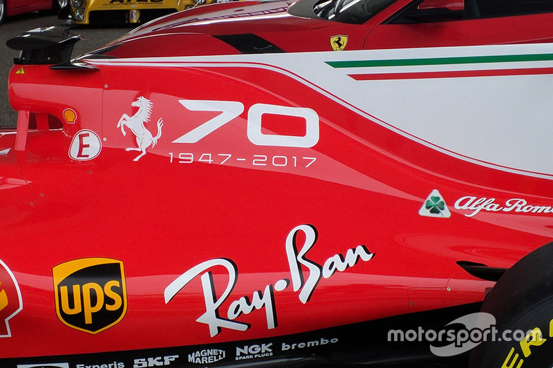 Ferrari display for the 70th anniversary