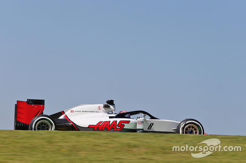 Romain Grosjean, Haas F1 Team VF-16 con el Halo en el auto