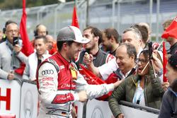 Mike Rockenfeller, Audi Sport Team Phoenix, Audi RS 5 DTM celebrate