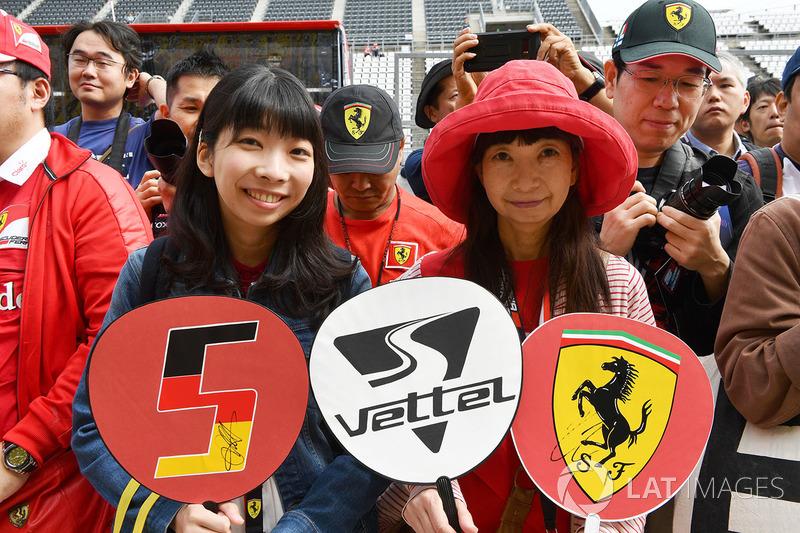 Sebastian Vettel, Ferrari fans