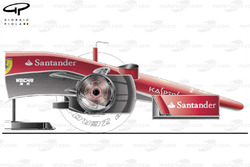 Ferrari SF15-T nose and brake design