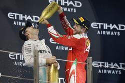 Podium: second place Nico Rosberg, Mercedes AMG F1, third place Sebastian Vettel, Ferrari