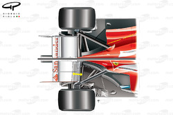 Ferrari F138 (bottom) suspension comparison with F2012 (top)