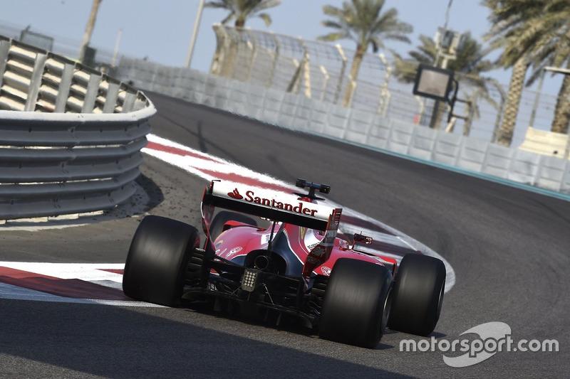 Kimi Raikkonen, Ferrari teste les pneus Pirelli 2017