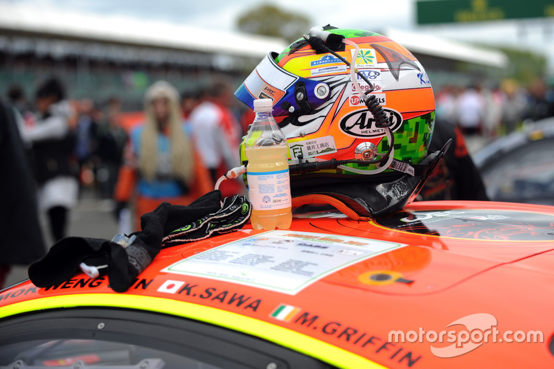 Helmet of Keita Sawa, Clearwater Racing
