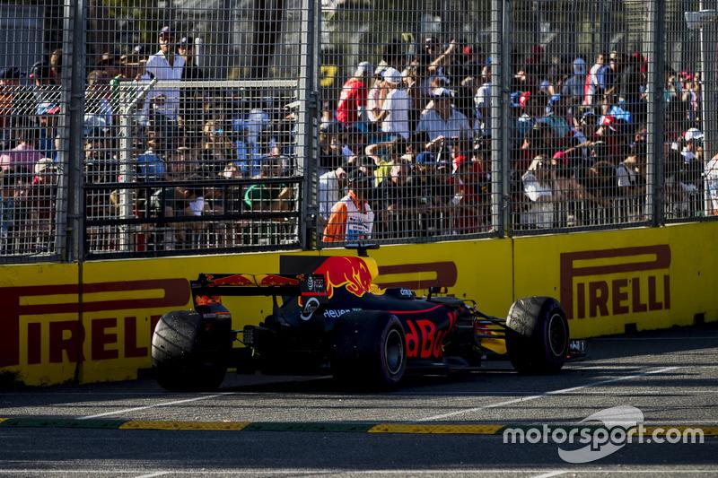 The parked car of Daniel Ricciardo, Red Bull Racing RB13