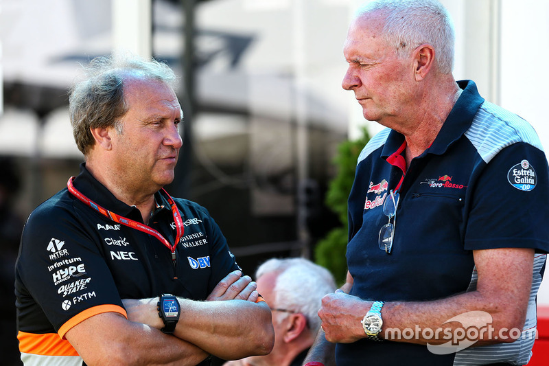 Robert Fernley, Sahara Force India F1 Team, mit John Booth, Scuderia Toro Rosso