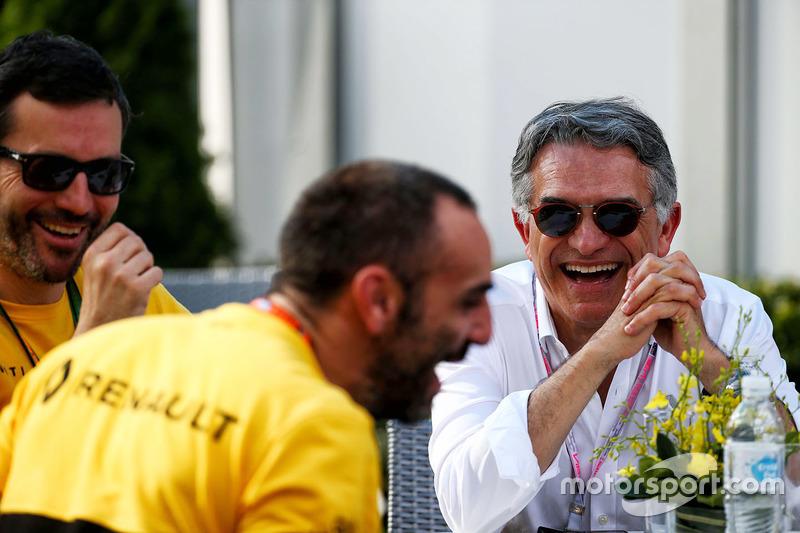 Patrice Ratti, director general de Renault Competición con Cyril Abiteboul, Renault Sport F1