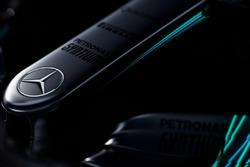 Mercedes AMG F1 W08 Hybrid detalle del morro