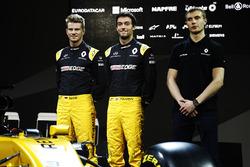Nico Hulkenberg, Renault Sport F1 Team, Jolyon Palmer, Renault Sport F1 Team and Sergey Sirotkin