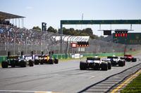 Кімі Райкконен, Ferrari SF71H, Сергій Сироткін, Williams FW41 Mercedes, Фернандо Алонсо, McLaren MCL33 Renault, Ромен Грожан, Haas F1 Team VF-18 Ferrari, НІко Хюлькенберг, Renault Sport F1 Team R.S. 18, тренують старти