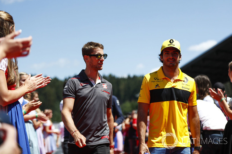 Grosjean en Sainz na hun clash in ronde 40