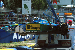 Michael Schumacher,Benetton B194 Ford tras su accidente
