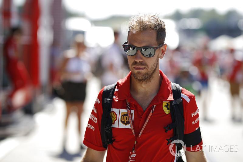 """Sebastian Vettel: """"Foi uma corrida difícil, estávamos um pouco fora de posição para a velocidade que tínhamos, poderíamos estar perto de Lewis hoje em termos de ritmo de corrida. Tive um bom começo, que foi surpreendente com pneus mais duros, fiquei em terceiro e depois nos saímos bem."""""""