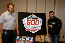 Chip Wile, President Daytona International Speedway met Austin Dillon, Richard Childress Racing Chev