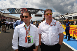 Zak Brown, McLaren Racing CEO on the grid