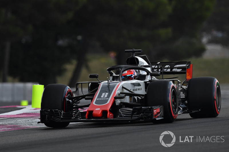 10: Romain Grosjean, Haas F1 Team VF-18, no time