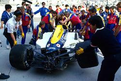 Unfallauto von Nigel Mansell, Williams FW11B