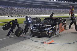 Christopher Bell, Joe Gibbs Racing Toyota, makes a pit stop