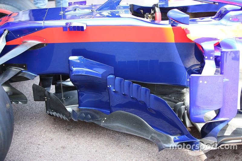 Scuderia Toro Rosso STR13 detalle de los pontones