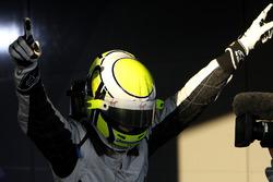 Race winner Jenson Button, Brawn Grand Prix in parc ferme