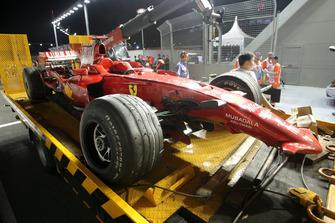Unfallauto von Kimi Räikkönen, Ferrari F2008