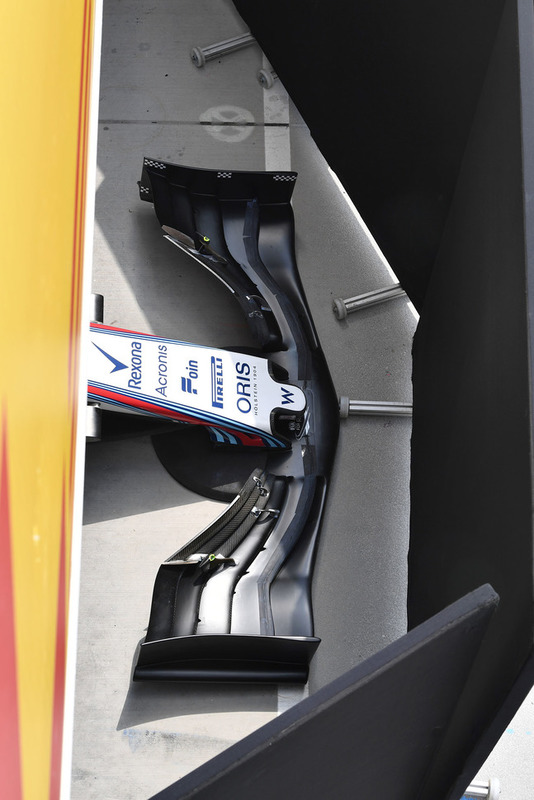 Williams FW41 burun ve ön kanat detay
