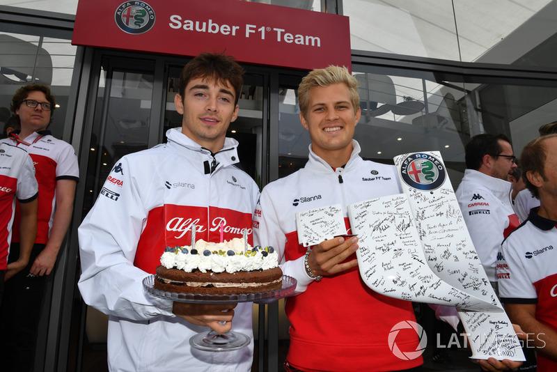 Sauber святкує день народження Маркуса Ерікссона, Sauber