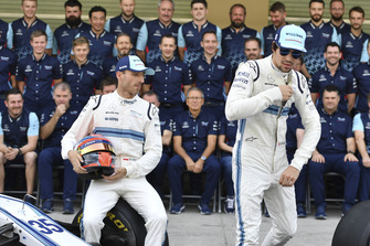 Robert Kubica, Williams and Lance Stroll, Williams Racing at the Williams Racing Team Photo