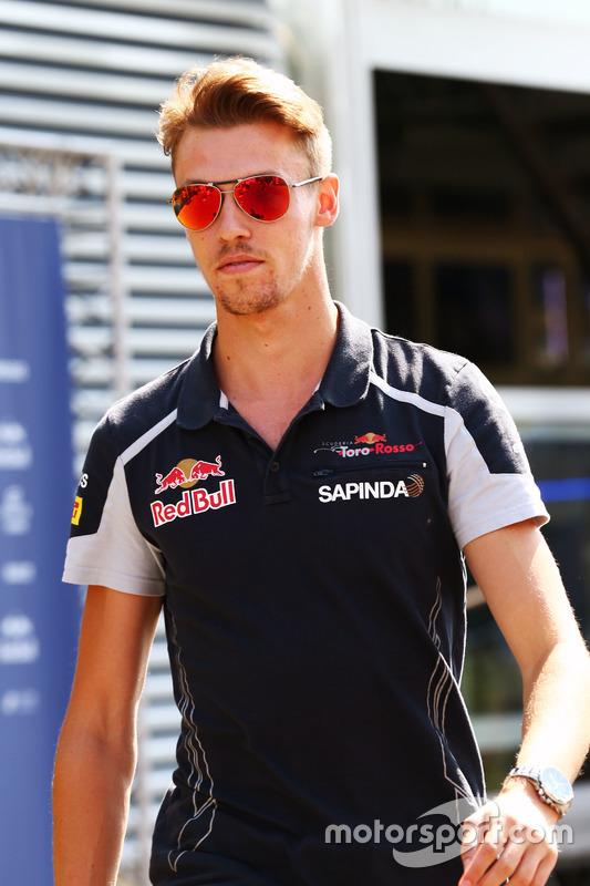 Daniil Kvyat, Scuderia Toro Rosso nella sfilata dei piloti