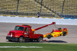 Ryan Hunter-Reay, Andretti Autosport Honda crashed car