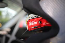 Dettaglio del casco di Mattia Drudi, Dinamic Motorsport - Modena
