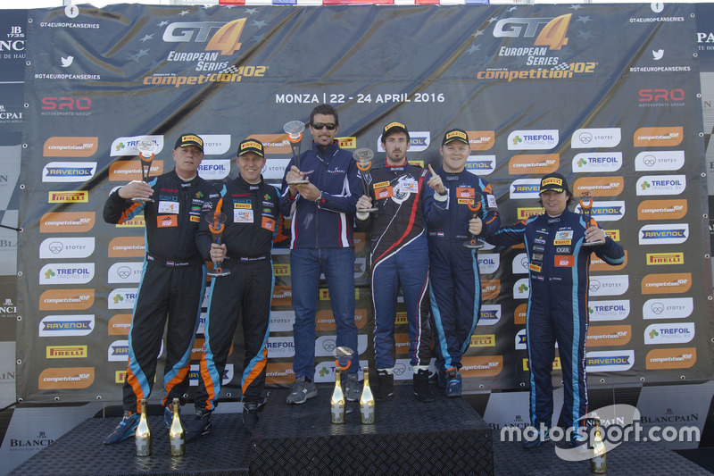 Podium: 2. Duncan Huisman, Luc Braams, V8 Racing International, Chevrolet Camaro GT4; 1. Romain Monti, Maserati Spa, Maserati GranTurismo MC GT4; 3. Jelle Beelen, Marcel Nooren, V8 Racing International, Chevrolet Camaro GT4