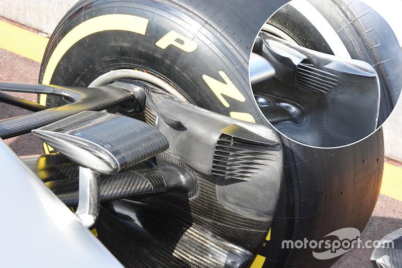 Mercedes AMG F1 Team W07, Bremskanal Detail