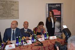 Daniele Frongia, assessore sport Roma Capitale, il Presidente dell'Aci Angelo Sticchi Damiani e il Presidente dell'Aci Roma Giuseppina Fusco