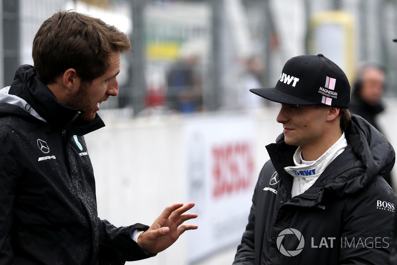 Daniel Juncadella with Lucas Auer, Mercedes-AMG Team HWA, Mercedes-AMG C63 DTM